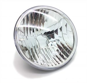 7 Crystal Clear Free Form Headlight For Land Rover Defender Series Mini RHD