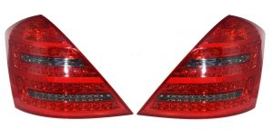 Back rear tail lights LED for Mercedes W221 (05-09) red smoked dynamic indicator