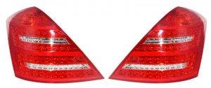 Back rear tail lights LED for Mercedes W221 (05-09) red clear Dynamic Indicators