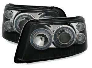 For VW Transporter T5 03-10 Black Angel Eye Projector Headlights Lamps LHD/Rhd
