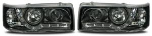 For VW Transporter T4 90-03 Black LED DRL Projector Headlights Lamps Short Nose