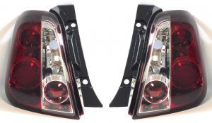 Performance Rear Right Left Light Lamp Pair Red Clear For Fiat 500 08-On