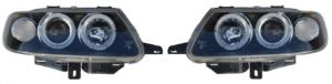 For Citroen Saxo 96-99 Black Angel Eye Headlights Lighting Lamp Replacement