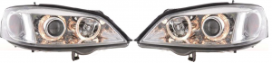 For Vauxhall Astra Mk4 98-04 Chrome Angel Eye Headlights Lighting Lamp