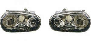Depo For VW Golf Mk4 Black Projector Angel Eye Headlights Lighting Lamp