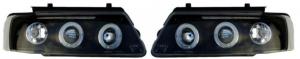 For VW Passat 96-00 Black Angel Eye Projector Headlights Lighting Lamp