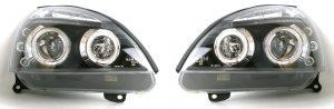 For Renault Clio Mk3 01-05 Black Angel Eye Projector Headlights Lamp Part