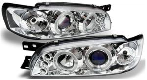 For Subaru Impreza 97-01 Angel Eye Chrome Headlights Lighting Lamp Replacement