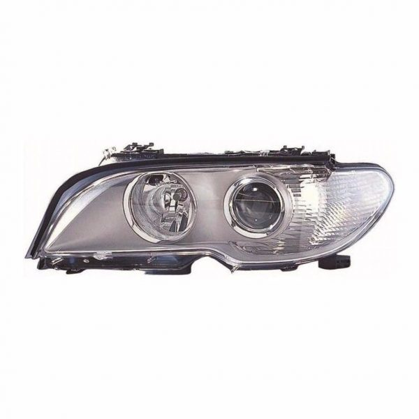 Fits BMW 3 Series E46 - Front Left Headlight Headlamp Chrome Inner Clear Indicat