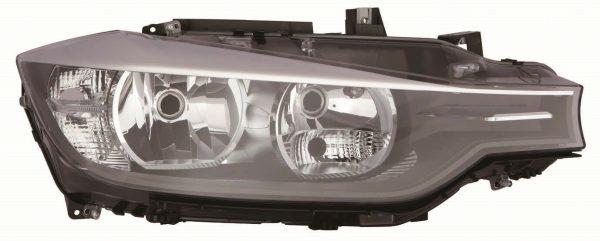 CarModShop HL6040 Right OS Headlight H7 H7 Black Inner Motor
