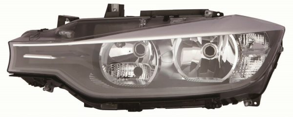 CarModShop HL6041 Left NS Headlight Headlamp H7 H7 Black Inner Motor