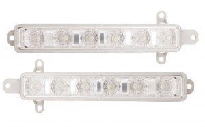 Pair Right OS Left NS DRL Lights LED Bulbs For Citroen Berlingo Mk2 Van 3.12-On