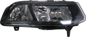 Front Right DRL Light Lamp Black Inner W21W For VW Polo 04.14-On