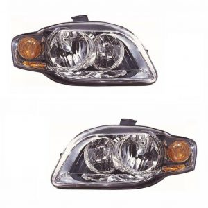 For Audi A4 Mk2 Saloon & Estate 9/2004-6/2006 Headlights Lamps 1 Pair O/S & N/S