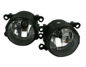 Pair Right OS Left NS Side Fog Lights H11 Smoked For Citroen C4 Mk1 Hatch 04-10