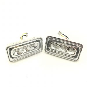 For VW Golf MK3 92-98 chrome clear LED side repeaters indicators blinkers pair