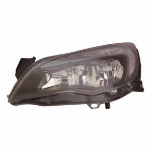 For Vauxhall Astra J 09-12 left headlight headlamp black sport models
