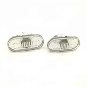 Depo Side Marker Lights Repeaters Pair Crystal Clear For Nissan Renault