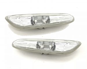 Pair Side Marker Light Repeater Clear Triangular For BMW E90 E91 E92 E93 E60 E87