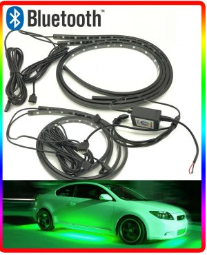 Full Bluetooth Controlled Multicolour Flexible Ground Undercar LED Neon Kit Glow