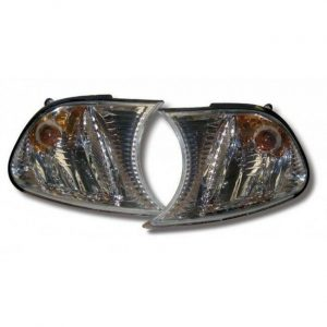 For BMW 3 E46 2Dr 01-02 Front Indicator Crystal Chrome Pre-Facelift Coupe Cabrio