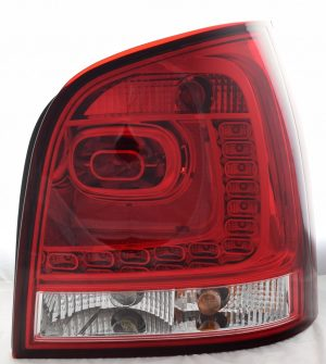 Back Rear Tail Lights Lamps LED Dark Red Clear For VW Polo 9N 02-05- On