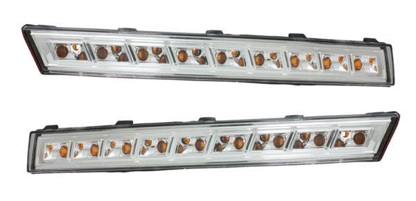 Pair LED Front Indicators Detector Replacement For VW Passat 3C 2005-10 Clear