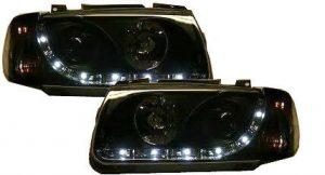 Black DRL-Look Devil Eye For Audi R8-Style Headlights VW Polo Mk4 6N 94-99