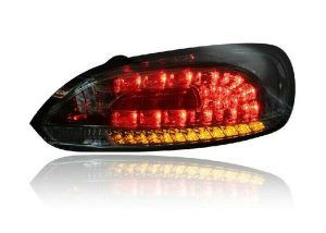 For VW Scirocco 08- Red Clear LED Back Rear Tail Lights Lamp Indicator Set