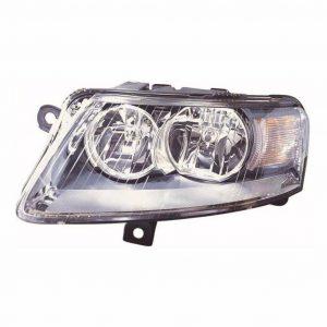 For Audi A6 Mk2 & Allroad 6/2004-2008 Headlight Lamp Halogen Chrome Left NS