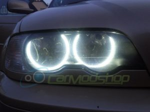 For BMW 3 Series E46 Projector With Xenons M3 LED Angel Eye Kit 98-05 Halo Rings