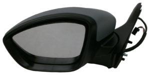 For Peugeot 208 Hatchback 2012-> Electric Wing Door Mirror Primed Left Side NS