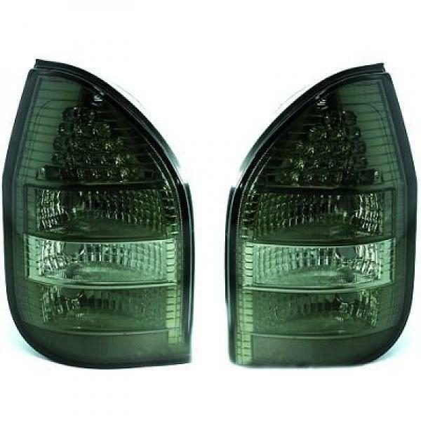 Back Rear Tail Lights Pair Set LED Clear Black For Vauxhall Zafira 99-05
