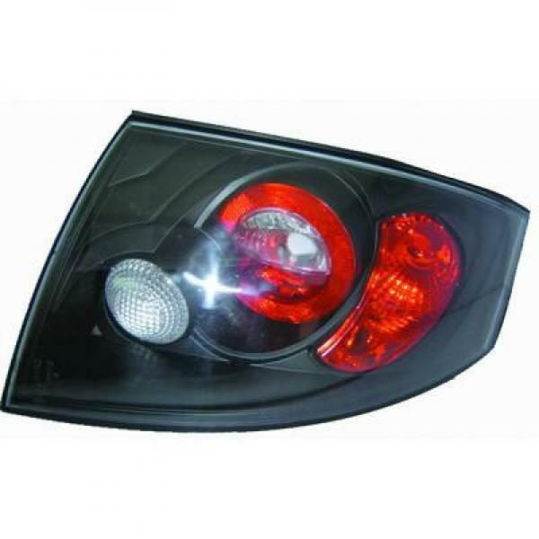 Back Rear Tail Lights Pair Set Clear Black For Audi TT Coupe Cabrio 98-06
