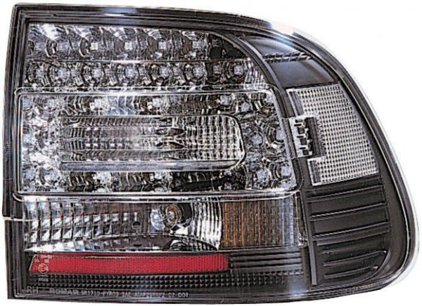 Back Rear Tail Lights Pair Set LED Black For Porsche Cayenne 03-07