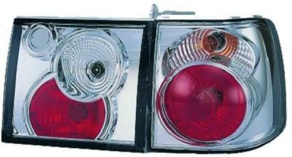 Back Rear Tail Lights Pair Set Clear Chrome For VW Passat B4 93-97