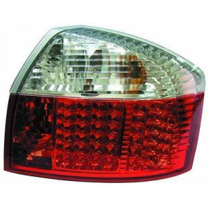 Back Rear Tail Lights Pair Set LED Crystal Red White For Audi A4 8E 00-04 saloon