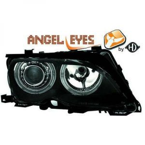 RHD LHD Projector Headlights Pair Angel Eyes H7 For BMW 3 Series E46 Touring