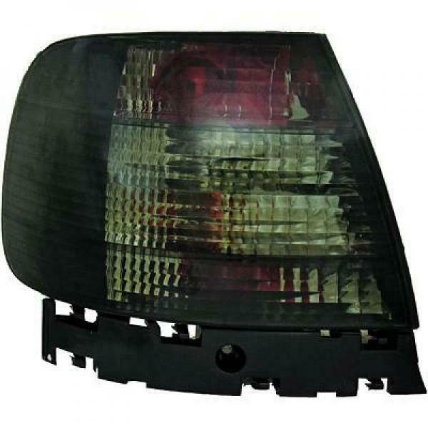 Back Rear Tail Lights Pair Set Crystal Black For Audi A4 Saloon Avant 8D2 94-98