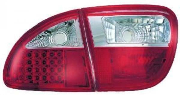 Back Rear Tail Lights Pair Set LED Clear Red White For Seat Toledo Leon 99-04