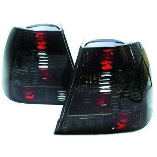 Back Rear Tail Lights Pair Set Crystal Black For VW Bora 98-05