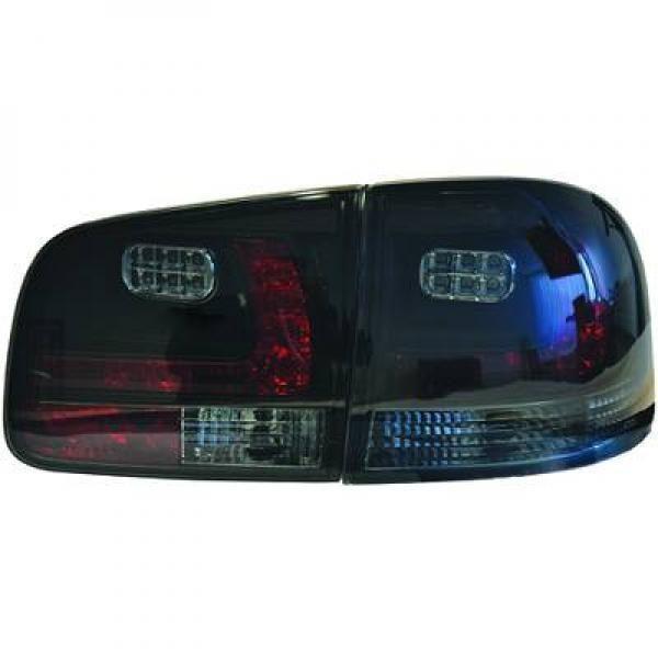 Back Rear Tail Lights Pair Set LED Clear Smoke Black For VW Touareg 02-10