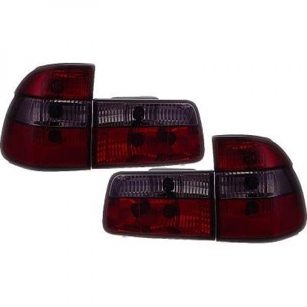 Back Rear Tail Lights Pair Set Clear Red Black For BMW 5 Series E39 95-00