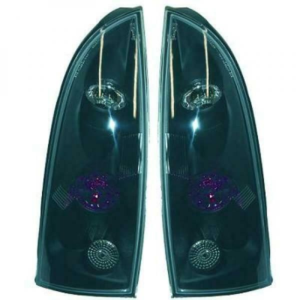 Back Rear Tail Lights Pair Set Clear Black For Ford Focus 98-04