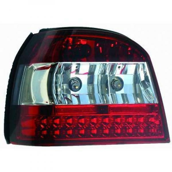 Back Rear Tail Lights Pair Set LED Clear For VW Golf III 91-97