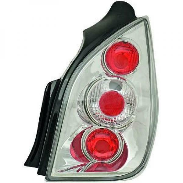Back Rear Tail Lights Pair Set Clear Chrome For Citroen C2 03-08