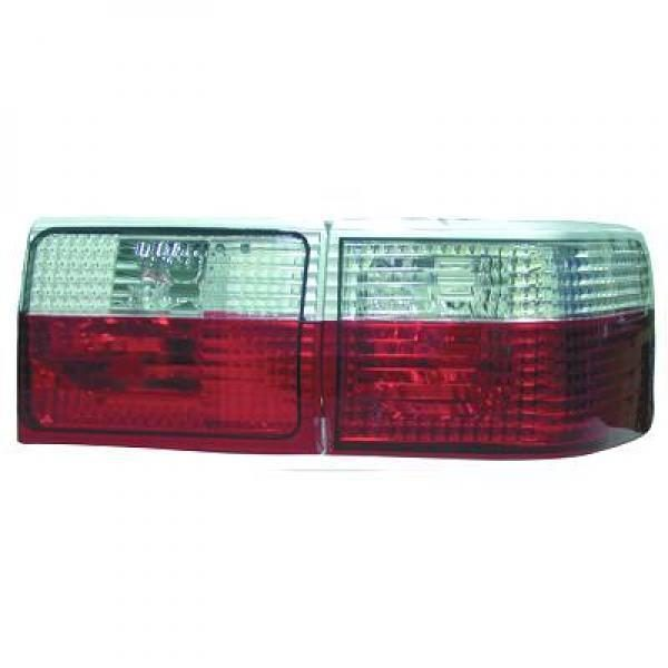 Back Rear Tail Lights Pair Set Crystal Red White For Audi 80 B4 avant 86-91