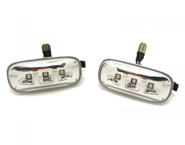 Back Rear Tail Lights Pair Set LED Clear Red Black For Audi A4 B7 Saloon 04-07