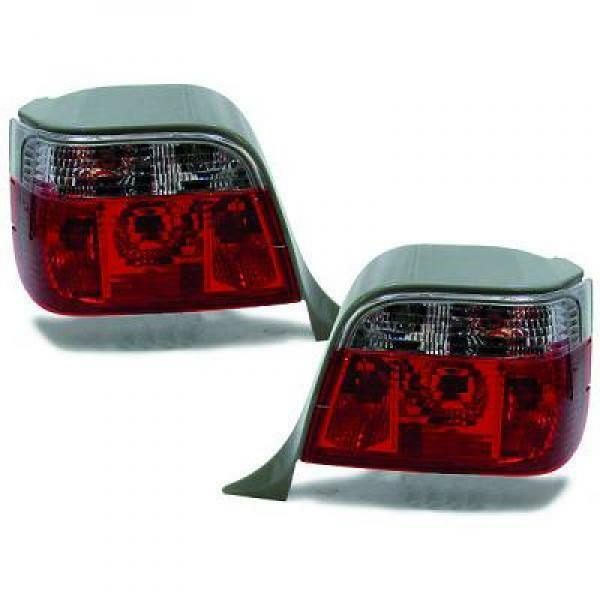 Back Rear Tail Lights Pair Set Clear Red White For BMW E36 Touring 90-99