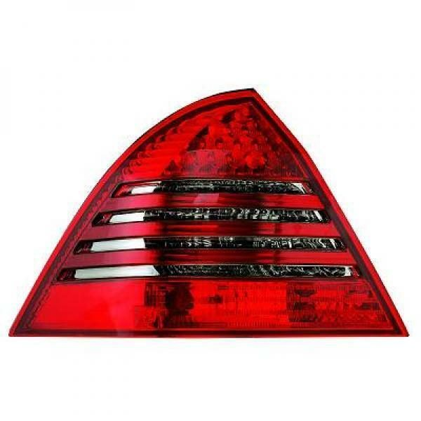 Back Rear Tail Lights Pair Set LED Clear Red Grey For Mercedes W203 Saloon 04-07